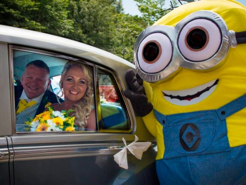 This couple had a Minions themed wedding and it totally rocked