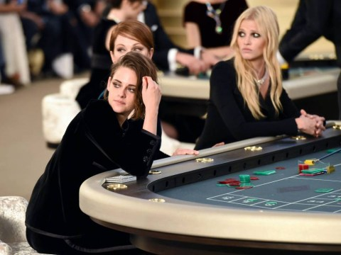It was a game of spot the celebrities at Chanel's casino themed couture show