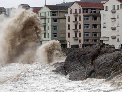One million evacuated as 100mph typhoon batters China