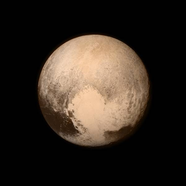 This July 13, 2015 image provided by NASA shows Pluto, seen from the New Horizons spacecraft. The United States is now the only nation to visit every single planet in the solar system. Pluto was No. 9 in the lineup when New Horizons departed Cape Canaveral, Fla, on Jan. 19, 2006  (NASA via AP)