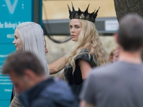 Charlize Theron is looking so fierce on the set of Huntsman