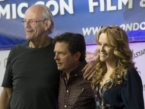Marty McFly and Doc Brown reunite in London for Back To The Future's 30th