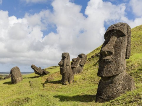 Turns out the Easter Island heads have bodies