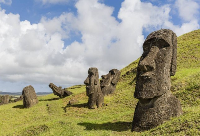 Image result for easter island heads