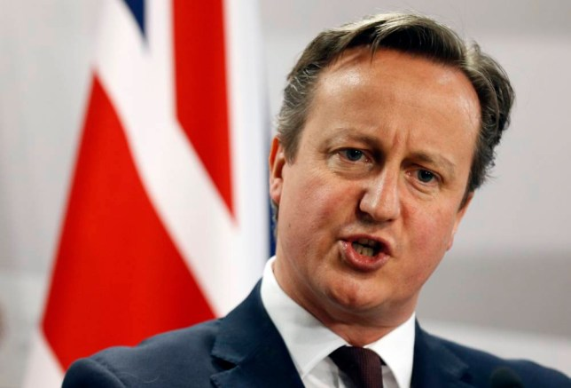 FILE - This is a Friday, May 22, 2015 file photo of British Prime Minister David Cameron as he speaks during a media conference at the conclusion of the Eastern Partnership summit in Riga, Latvia. Cameron declared Sunday July 19, 2015 that Britain needs to take a greater role in destroying the Islamic State group in Syria, his most direct signal to date that he will seek to expand his country's role in supporting the United States and its allies. (AP Photo/Mindaugas Kulbis, File)