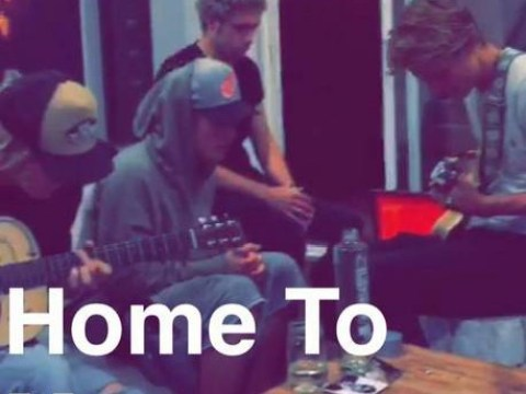 Niall Horan and Justin Bieber pictured next to 'suspicious glass pipe' in Snapchat clip