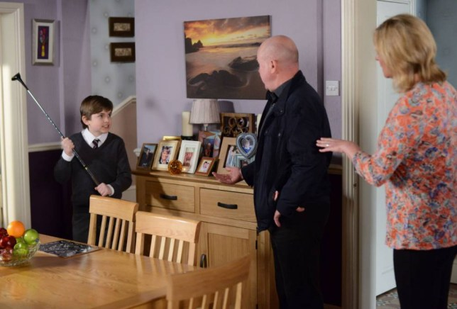 EastEnders Bobby Beale Phil Mitchell confrontation