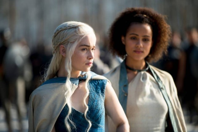 No Merchandising. Editorial Use Only. No Book Cover Usage Mandatory Credit: Photo by HBO/Everett/REX Shutterstock (3688640i) Game of Thrones - Season 4: Emilia Clarke, Nathalie Emmanuel Game of Thrones - 2014