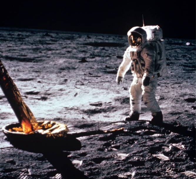 Mandatory Credit: Photo by NASA/REX Shutterstock (274627b).. Neil Armstrong on the moon's surface.. Apollo 11 Lunar Landing Mission - 1969.. ..