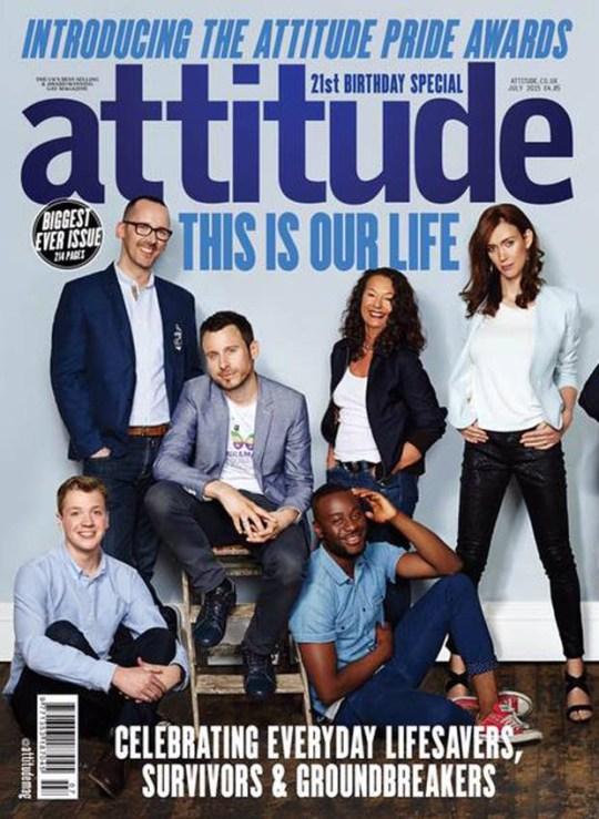 Attitude magazine Pride cover