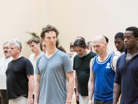 Here's our first look at Benedict Cumberbatch rehearsing for Hamlet