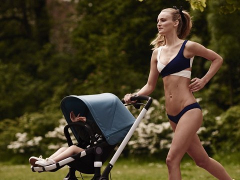 Bugaboo spark outrage with picture of model mum jogging in a bikini
