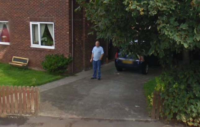 Donny Riding pictured enjoying a cigarette (Picture: Google Street View)