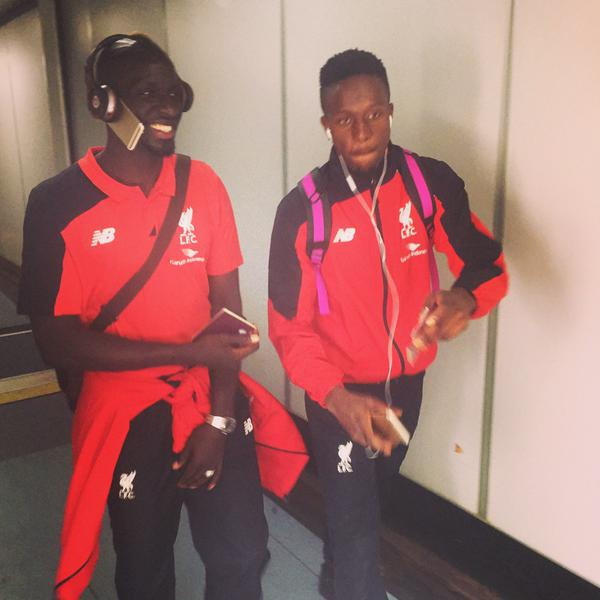 Anyone seen my phone lads? Liverpool defender Sakho proves he is an absolute boss