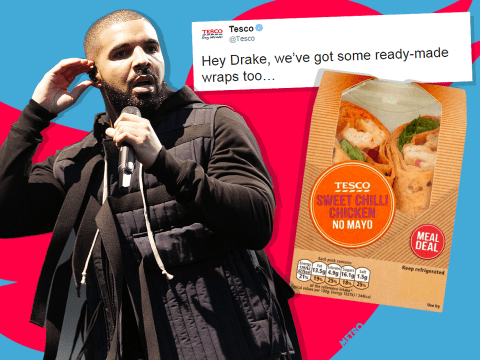 Drake just got owned by Tesco and Sainsbury's for not writing his own (w)raps