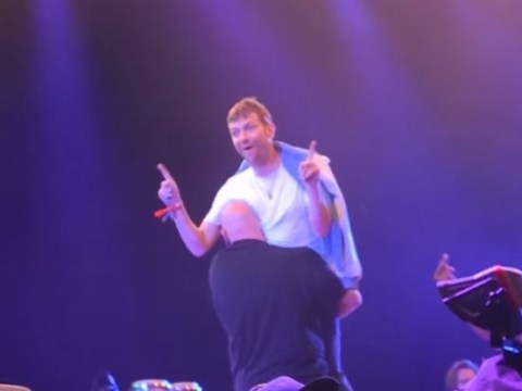 Blur's Damon Albarn carried off stage because his gig went on for FIVE hours