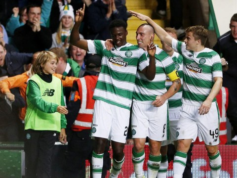 Dedryck Boyata scores Celtic winner, takes out ball boy in celebration