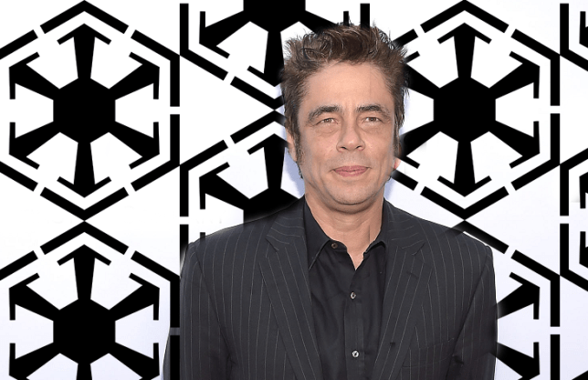 """HOLLYWOOD, CA - JUNE 22:  Actor Benicio del Toro attends the premiere of """"Escobar: Paradise Lost"""" at ArcLight Hollywood on June 22, 2015 in Hollywood, California.  (Photo by Jason Kempin/Getty Images)"""