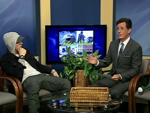 Stephen Colbert interviewed Eminem and pretended not to know who he was