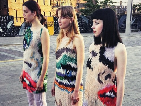 Central Saint Martins graduate creates incredible dresses from, er, fake nails