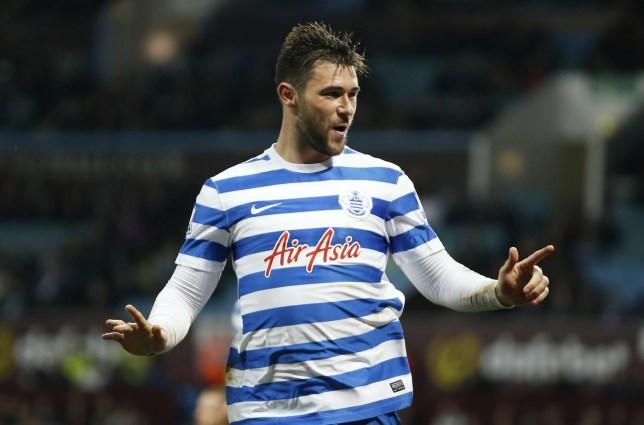 Football: Charlie Austin celebrates scoring the third goal for QPR John Sibley/Reuters