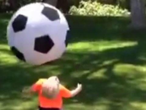 Worst dad ever? American father wipes out son with huge football