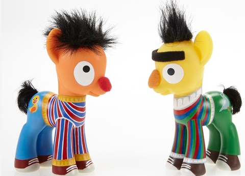 We never knew we wanted Bert and Ernie as My Little Ponies but we absolutely do