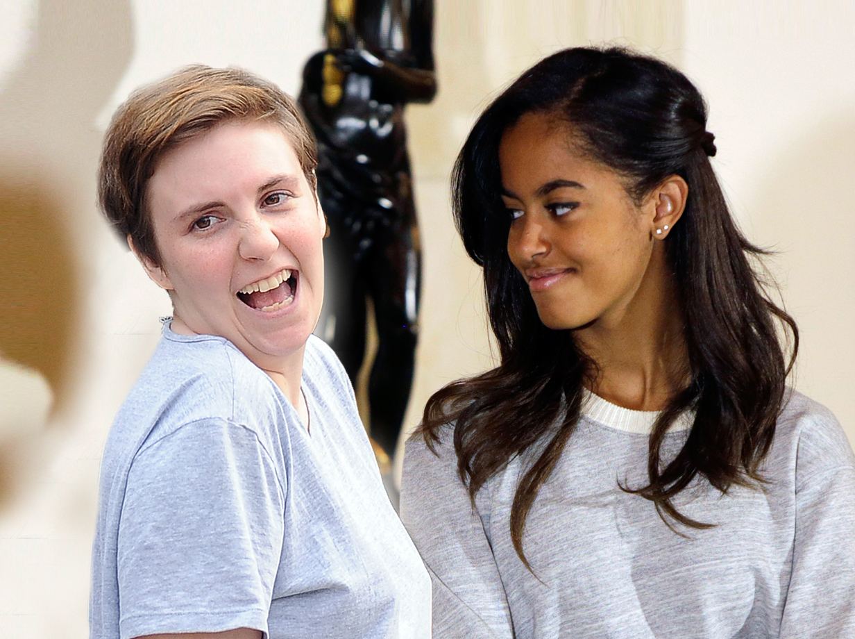 Lena Dunham's new intern is only President Obama's daughter