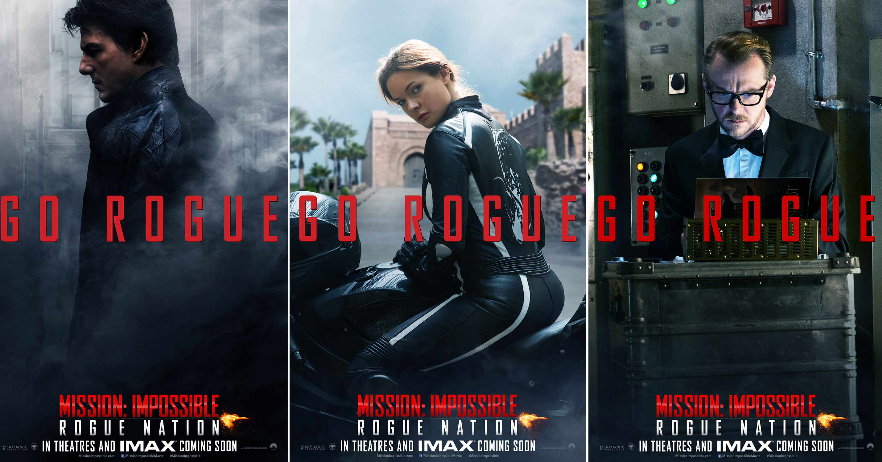 Simon Pegg has strong words for the Mission: Impossible – Rogue Nation posters