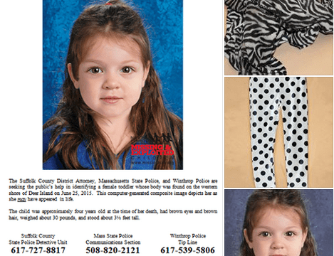 Police appeal for help identifying young girl found dead in bag