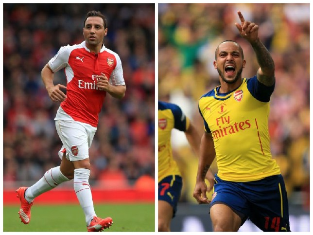 Santi Cazorla and Theo Walcott have agreed new deals at Arsenal (Picture: Empics)