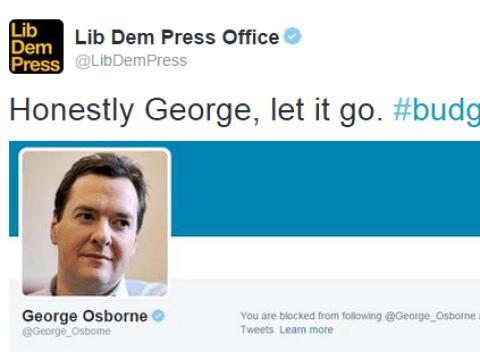 George Osborne just blocked the Lib Dems on Twitter