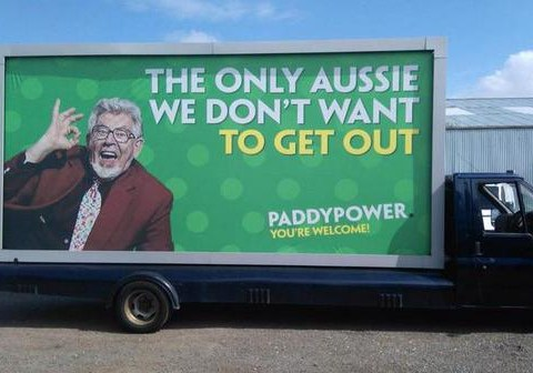 Paddy Power's scrapped Rolf Harris advert has been leaked online