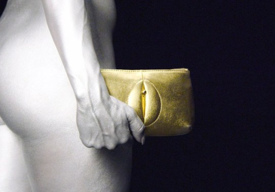 pussy purses vagina accessories created as a reaction to manspreading