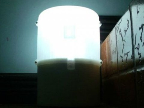 This lamp runs on a glass of water and two teaspoons of salt