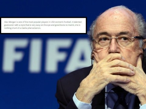 Fifa's official website accused of sexism during Women's World Cup 2015