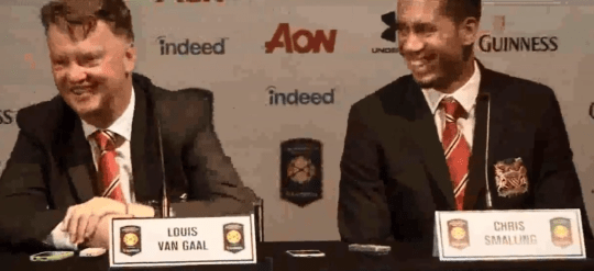 Smalling laughed off the gaffe (Picture: YouTube)
