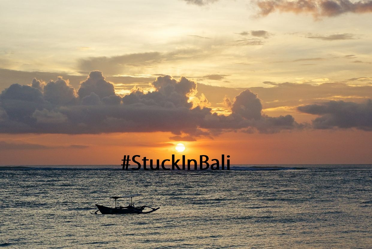 #StuckInBali is officially the smuggest hashtag in all of hashtag history
