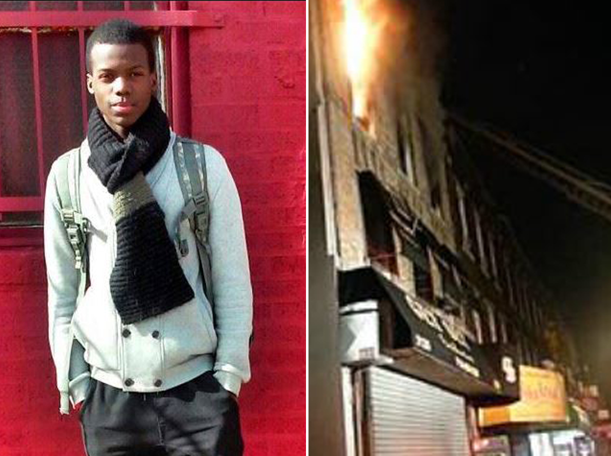 This superhero teen risked his life to save people during a deadly fire