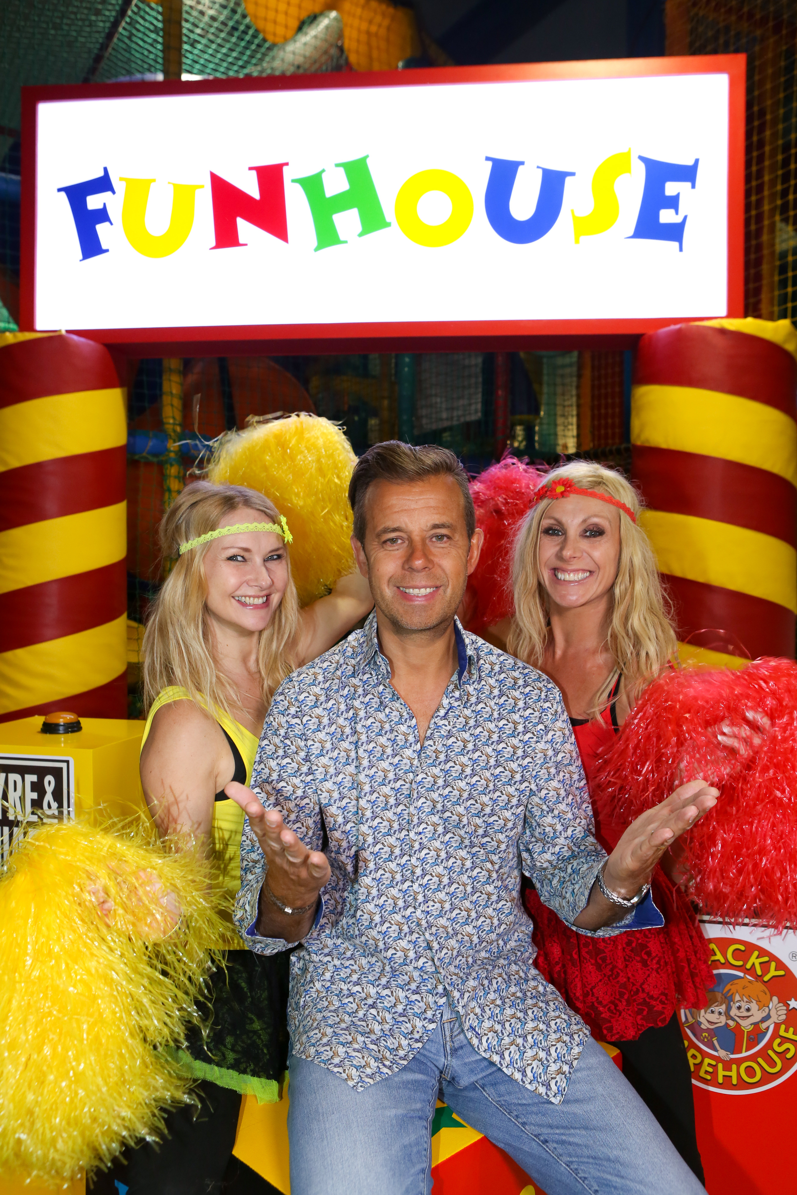 For one day only Fayre & Square and Wacky Warehouse are turning an existing Wacky Warehouse into a Family Fun House, based on children's TV show  Fun House, presented by Pat Sharp and the twins, Melanie and Martina.  We have selected four families (consisting of one adult and one child) to each take part in the Fun House day which will include a quiz round, parents getting dunked in gunge, go-karting, a build a burger task and then the family with the most points will have the opportunity to take on the Fun House (taking place in the Wacky Warehouse) and win great prizes. This event takes place on Saturday 13 June at The Fradley Arms in Lichfield . Picture by Shaun Fellows / Shine Pix