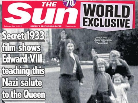 The internet is ridiculing the decision to publish the Queen giving a Nazi salute