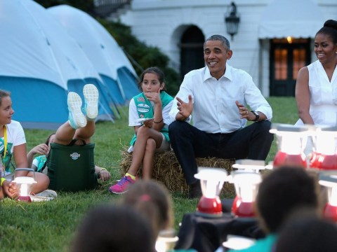 Girl scout falls head over heels for Obama