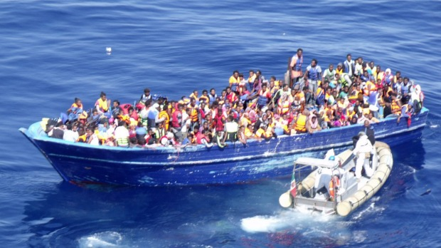 The Italian Navy rescued a record number of migrants (Picture: Italian Navy)