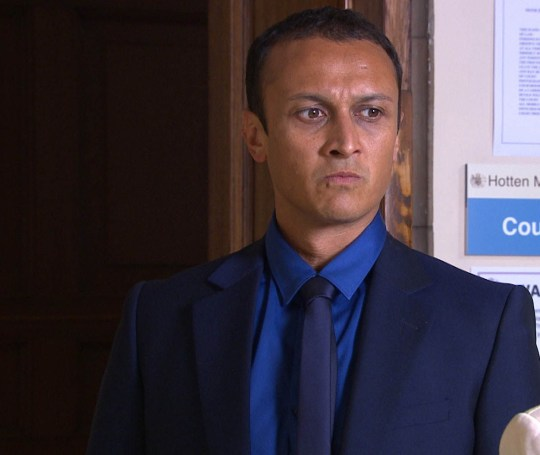 FROM ITV STRICT EMBARGO -TV Listings Magazines & websites Tuesday 4 August 2015, Newspapers Saturday 8 August 2015 Emmerdale - Ep 7263 Friday 14 August 2015 Jai Sharma [CHRIS BISSON] anxiously awaits Megan in court, all too aware his case heavily relies on Megan showing up… Picture contact: david.crook@itv.com on 0161 952 6214 This photograph is (C) ITV Plc and can only be reproduced for editorial purposes directly in connection with the programme or event mentioned above, or ITV plc. Once made available by ITV plc Picture Desk, this photograph can be reproduced once only up until the transmission [TX] date and no reproduction fee will be charged. Any subsequent usage may incur a fee. This photograph must not be manipulated [excluding basic cropping] in a manner which alters the visual appearance of the person photographed deemed detrimental or inappropriate by ITV plc Picture Desk. This photograph must not be syndicated to any other company, publication or website, or permanently archived, without the express written permission of ITV Plc Picture Desk. Full Terms and conditions are available on the website www.itvpictures.com