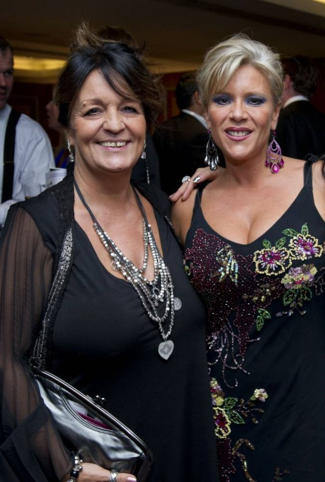 Mandatory Credit: Photo by REX Shutterstock (1306957b).. Samantha Fox (right) with her partner Myra Stratton, London, Britain.. Various.. ..