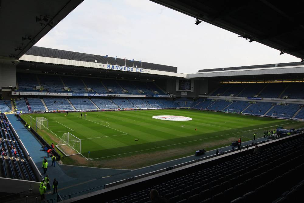 GLASGOW, SCOTLAND - MAY 07:  A genral view of Ibrox stadium before the Clydesdale Bank Premier League match between Rangers and Hearts on May 7, 2011 in Glasgow, Scotland.(Photo by Jeff J Mitchell/Getty Images)