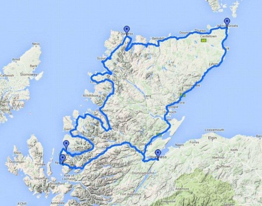 Road trip! Scotland's version of Route 66 voted one of the