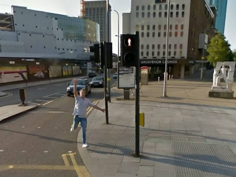 Man caught drunkenly chasing after car on Google Street View
