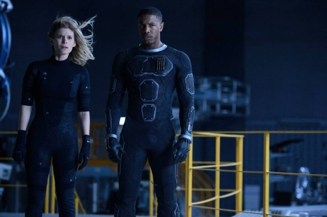 """This photo provided by Twentieth Century Fox shows, Kate Mara, left, as Sue Storm, and Michael B. Jordan as Johnny Storm, in a scene from the film, """"Fantastic Four."""" The movie releases in U.S. theaters on Friday, Aug. 7, 2015. (Ben Rothstein/Twentieth Century Fox via AP)"""