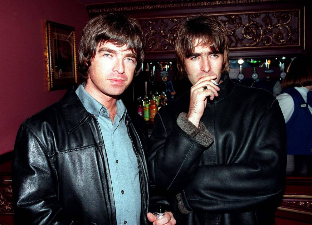 LONDON - : (UK NEWSPAPERS OUT WITHOUT PRIOR CONSENT FROM DAVE HOGAN. PLEASE CONTACT SALES TEAM WITH ENQUIRIES) Oasis lead singer Liam Gallagher and brother Noal Gallagher at the opening night of Steve Coogan's comedy show in the West End, London. (Photo by Dave Hogan/Getty Images) *** Local Caption *** Liam Gallagher;Noel Gallagher